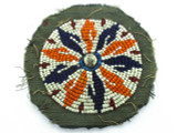 Old Kuchi Beaded Tribal Medallion - Afghanistan 114mm (AF311)