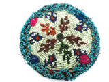 Old Kuchi Beaded Tribal Medallion - Afghanistan 127mm (AF308)