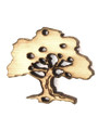 Tree (right) - Wood Cut Charm 19mm (WP69)