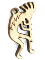 Kokopelli (left) Wood Cut Charm 23mm (WP22)