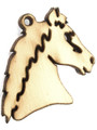 Horse Head (left) Wood Cut Charm 20mm (WP27)