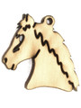 Horse Head (right) - Wood Cut Charm 20mm (WP28)