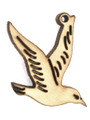 Bird (left) Wood Cut Charm 22mm (WP34)