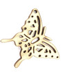 Butterfly (left) Wood Cut Charm 24mm (WP38)