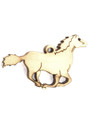 Running Horse (left) Wood Cut Charm 37mm (WP45)