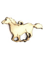 Running Horse (right) Wood Cut Charm 37mm (WP46)