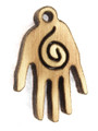 Spiral Hand (right) Wood Cut Charm 17mm (WP51)