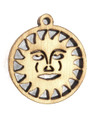 Sun - Wood Cut Charm 17mm (WP52)