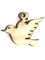 Dove (right) Wood Cut Charm 14mm (WP64)