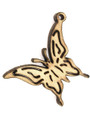 Butterfly (right) Wood Cut Charm 20mm (WP67)