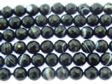 Banded Onyx Faceted Round Gemstone Beads 5mm (GS3438)