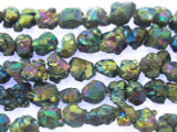 Electroplated Quartz Nugget Gemstone Beads 7-15mm (GS3453)