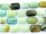 Black Gold Amazonite Rectangular Tabular Gemstone Beads 15mm (GS3460)