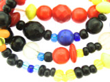 Old Mayan Assorted Glass Beads 3-9mm (GUA454)