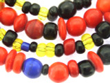 Old Mayan Assorted Glass Beads 4-8mm (GUA457)