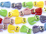 Multicoloreded Cats Glass Beads 24mm (LW1523)