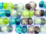 Multi-colored Transparent Owl Glass Beads 16mm (LW1546)