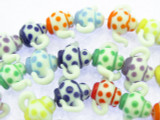 Teapot Polka Dot Lampwork Glass Beads 22mm (LW1557)