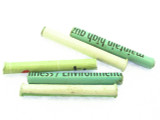 Green Long Tube Recycled Paper Beads 46mm (PA82)