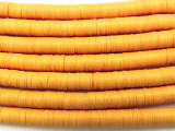 Light Orange Vinyl Disc Beads 5mm (VY188)