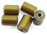 Gold Tube Recycled Paper Beads 10mm (PA94)
