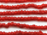 Cherry Red Tulip Recycled Glass Beads 7mm - Africa (RG602)