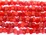Dark Red Tulip Recycled Glass Beads 7mm - Africa (RG604)