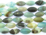 Black Gold Amazonite Oval Gemstone Beads 14mm (GS3489)