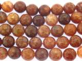 Carnelian Fire Agate Faceted Round Gemstone Beads 10mm (GS3547)