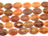 Carnelian Fire Agate Oval Tabular Gemstone Beads 12mm (GS3550)