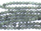 Gray Agate Faceted Round Gemstone Beads 2-3mm (GS3509)