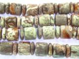 Crazy Lace Agate Cylinder & Rondelle Gemstone Beads 14mm (GS3511)