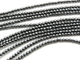 Hematite Faceted Round Gemstone Beads 2-3mm (GS3527)