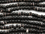 Black White Heart Trade Beads 4-6mm (AT7011)