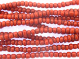 Small Red Glass Trade Beads 3-4mm (AT7018)