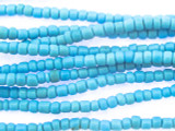 Small Light Blue Glass Trade Beads 3mm (AT7022)