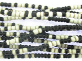 Small Black & White Glass Trade Beads 2-3mm (AT7025)