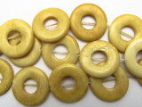 Antiqued Donut Bone Beads 23mm (B9051)