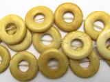 Antiqued Donut Bone Beads 23mm (B9051)