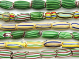 Watermelon Trade Beads - 3 strands (AT982)