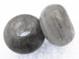 Gray Agate Large Hole Gemstone Bead 30mm (GSP469)