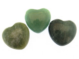 Green Aventurine Heart Gemstone Pendant 25mm (GSP479)