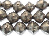 Large Silver Bicone Metal Beads 24mm - Mali (ME5671)