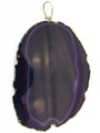 Purple Gold Plated Agate Gemstone Pendant 80mm (GSP528)