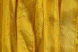"Yellow Hand Stitched Silk Ribbon 42"" (SK3003)"
