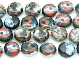 Dogs w/Monocles Decoupage Beads 15mm (DC37)