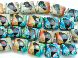 Black Bird Decoupage Beads 12mm (DC49)