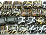 Assorted Animal Print Decoupage Beads 13mm (DC54)