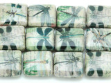 Dragonfly Decoupage Beads 20mm (DC72)