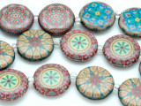 Vintage Kaleidoscope Decoupage Beads 20mm (DC73)